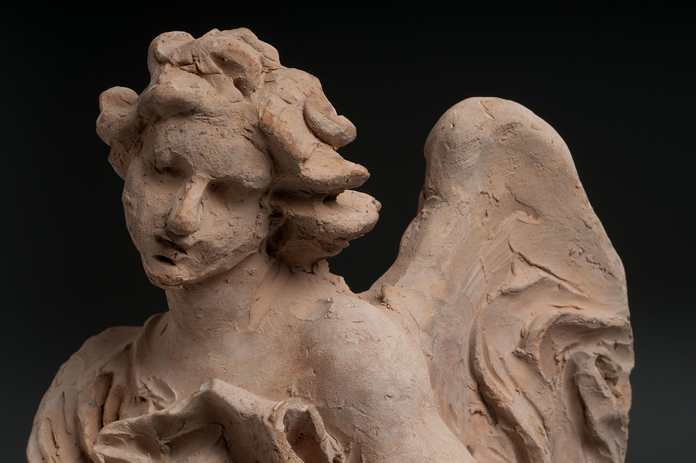 a Bernini terracotta angel, used as a model for his sculptures