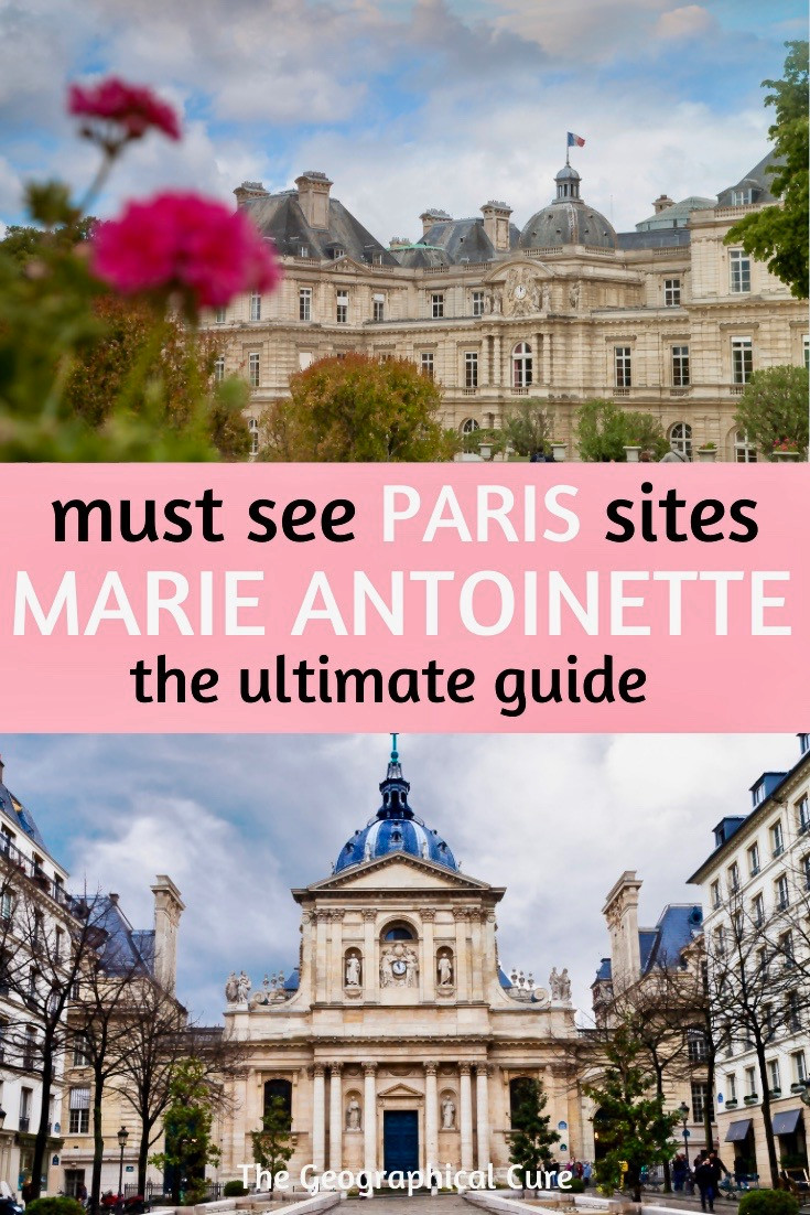 Marie Antoinette sites in Paris
