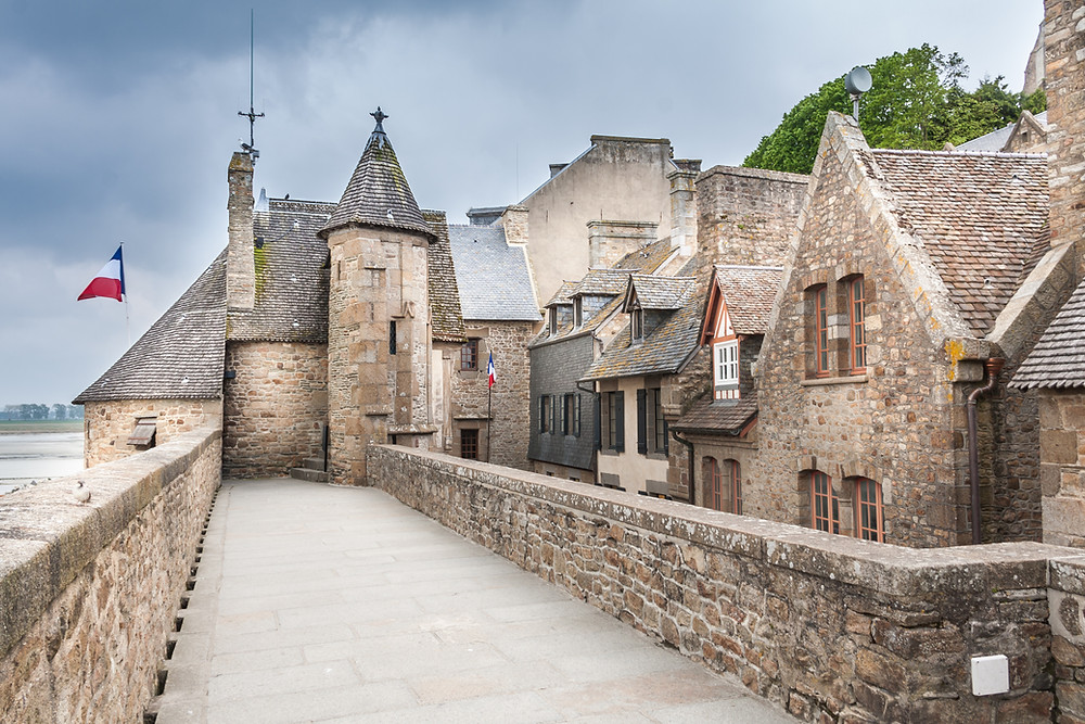 the stony village of Mont Saint-Michel