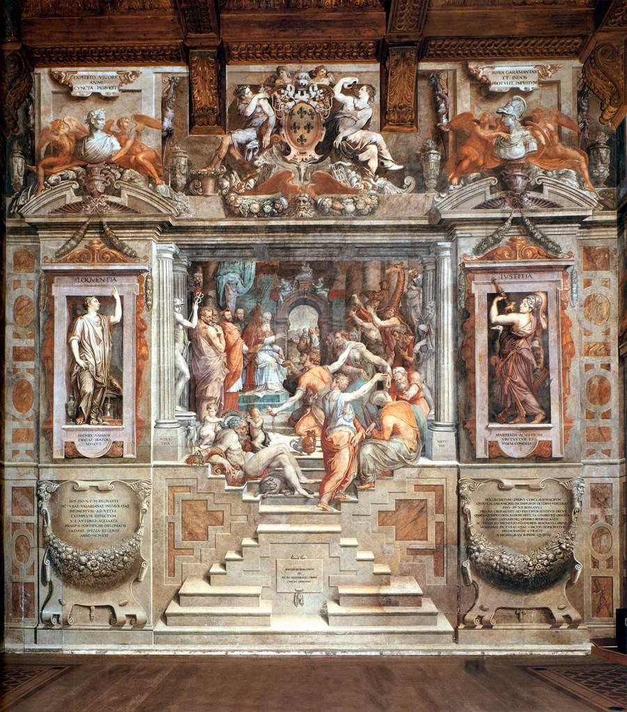 Vasari frescos in the Palazzo della Cancellaria in Rome