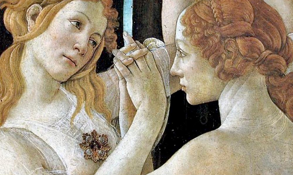 detail of The Three Graces in Primavera