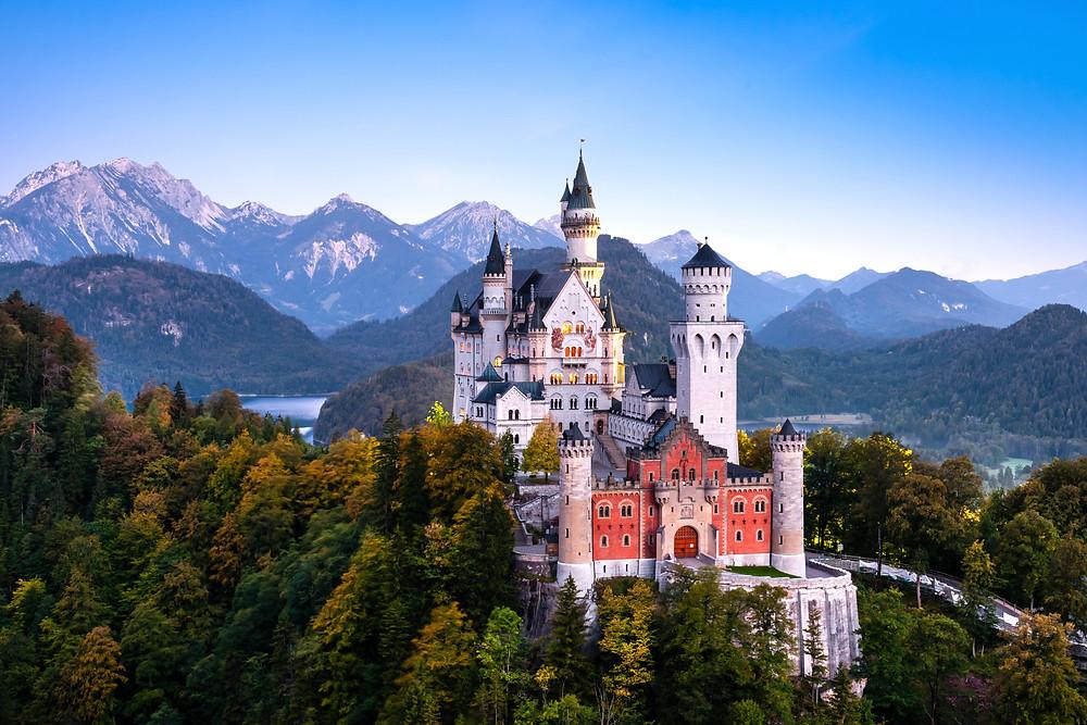 the famous Neuschwanstein Castle, Ludwig's pièce de résistance