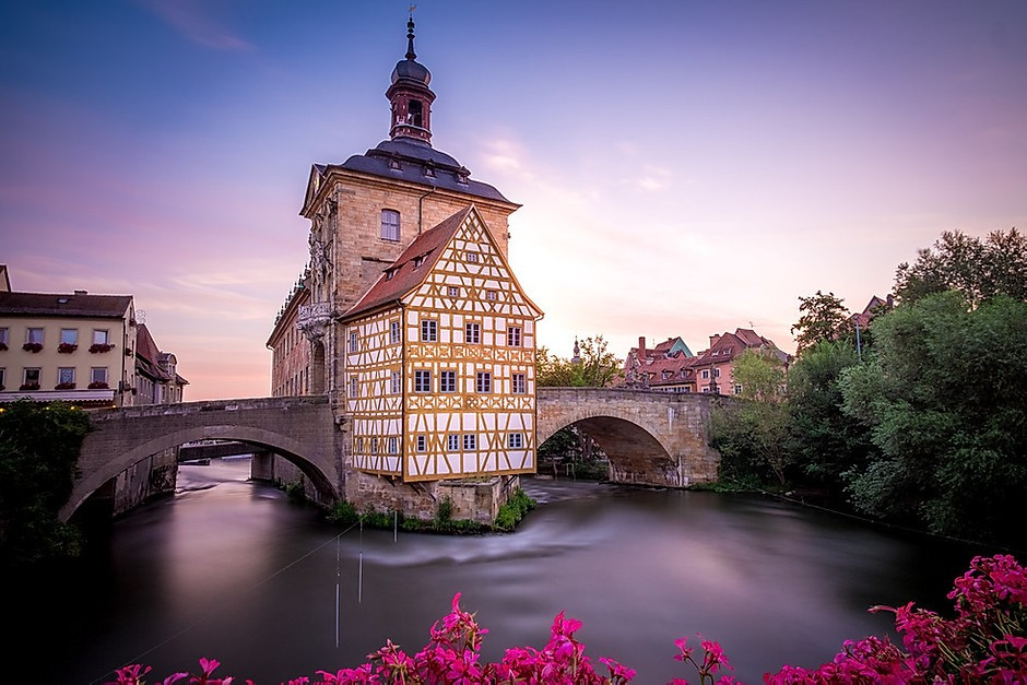 the iconic town hall of Bamburg Germany