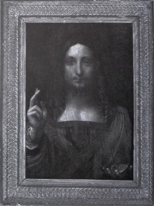 Salvator Mundi as it appeared in the 2005 auction catalogue