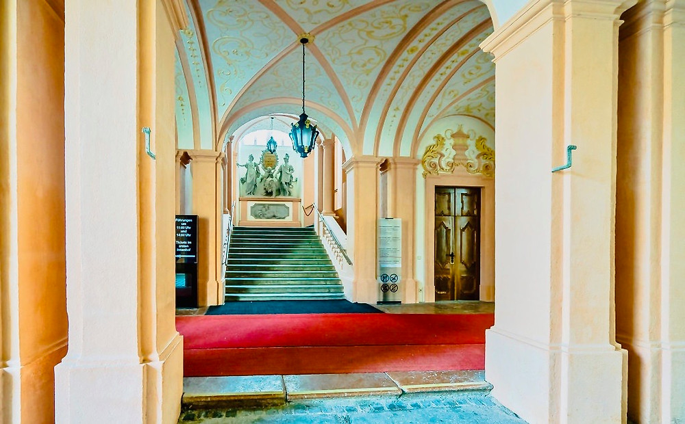 the Imperial Staircase in Melk Abbey