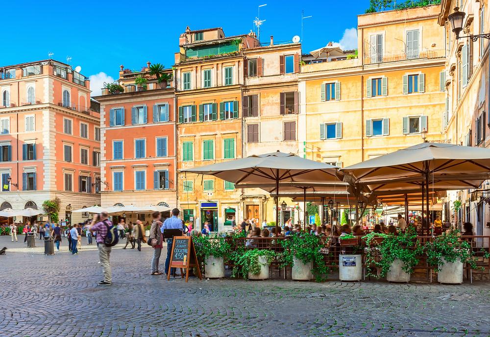 Square Santa Maria in Trastevere