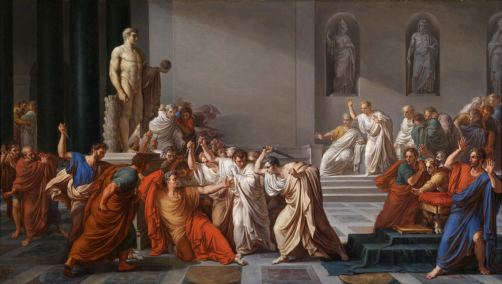 Vincenzo Camuccini, The Death of Caesar, 1806