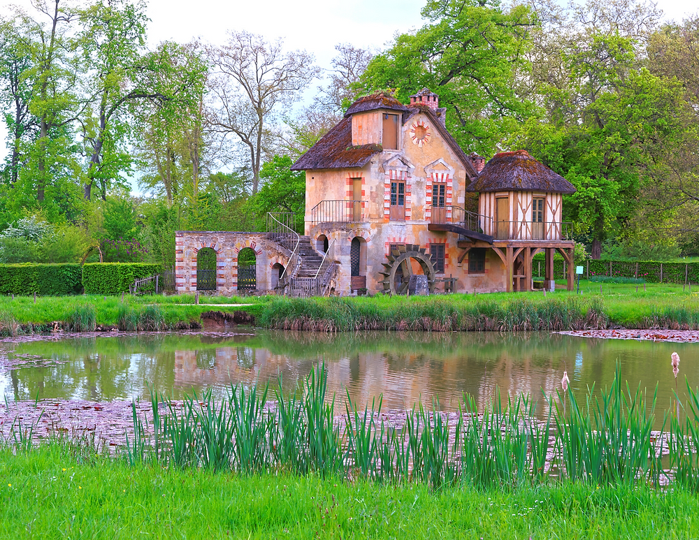 a cottage in Marie Antoinette's Hameau