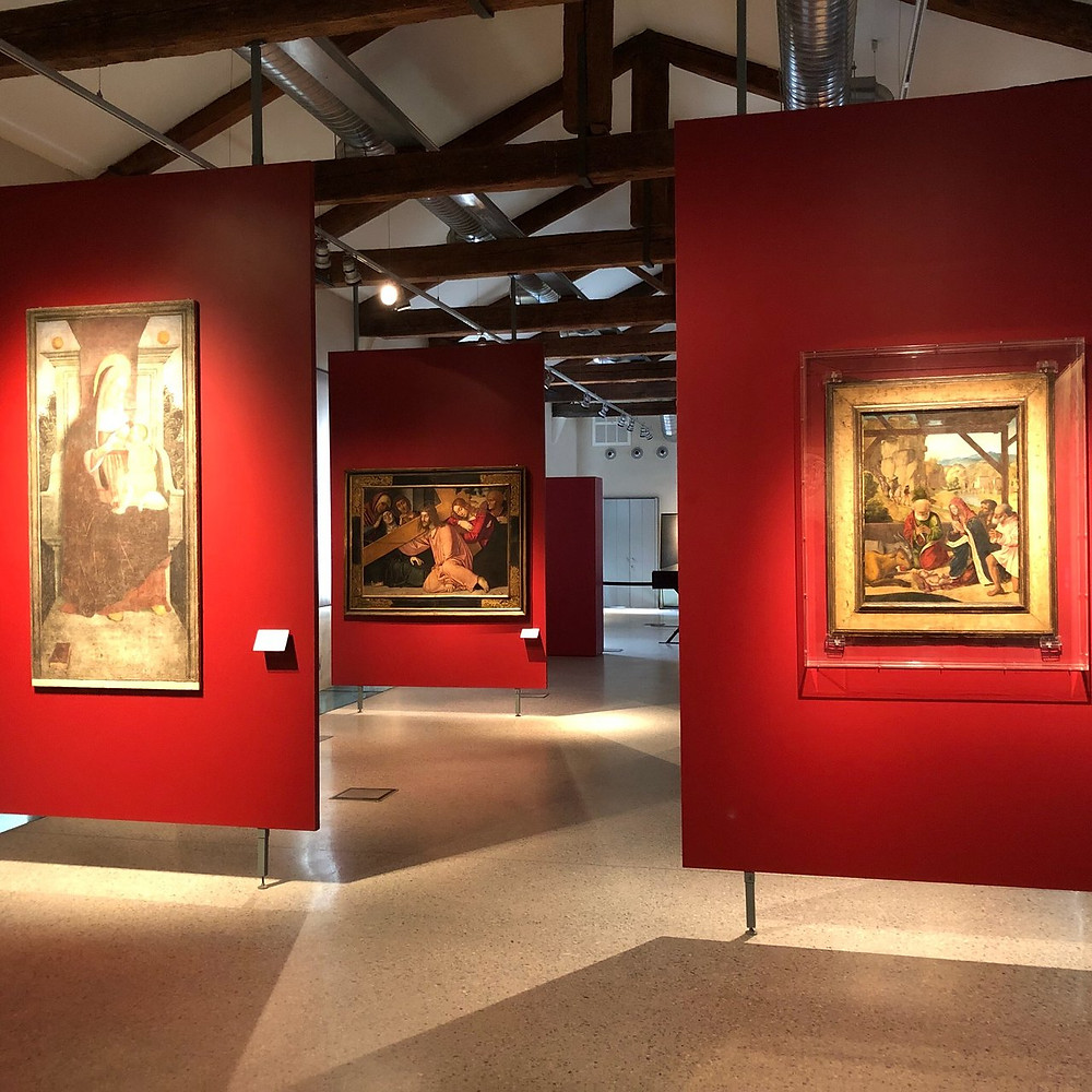 International Style Gothic paintings in the Museum of the City in Mantua Italy