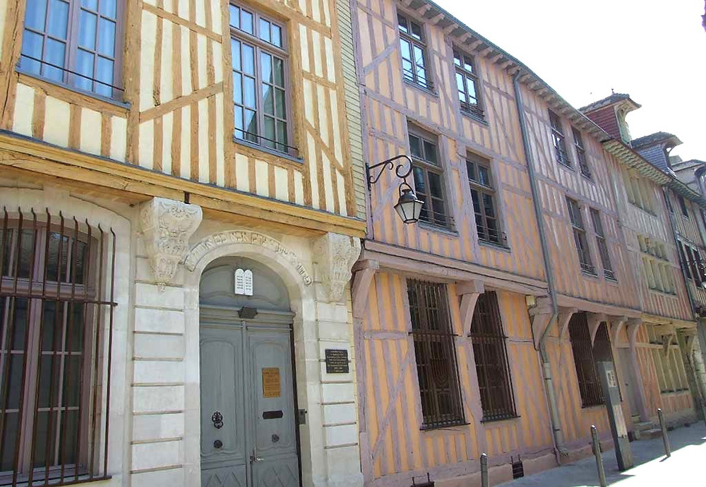 half timbered architecture in Troyes France