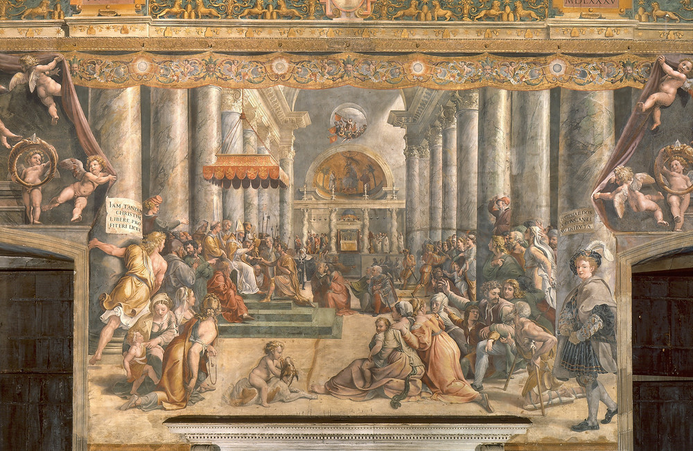 Raphael and Workshop, Donation of Constantine, 1520-24