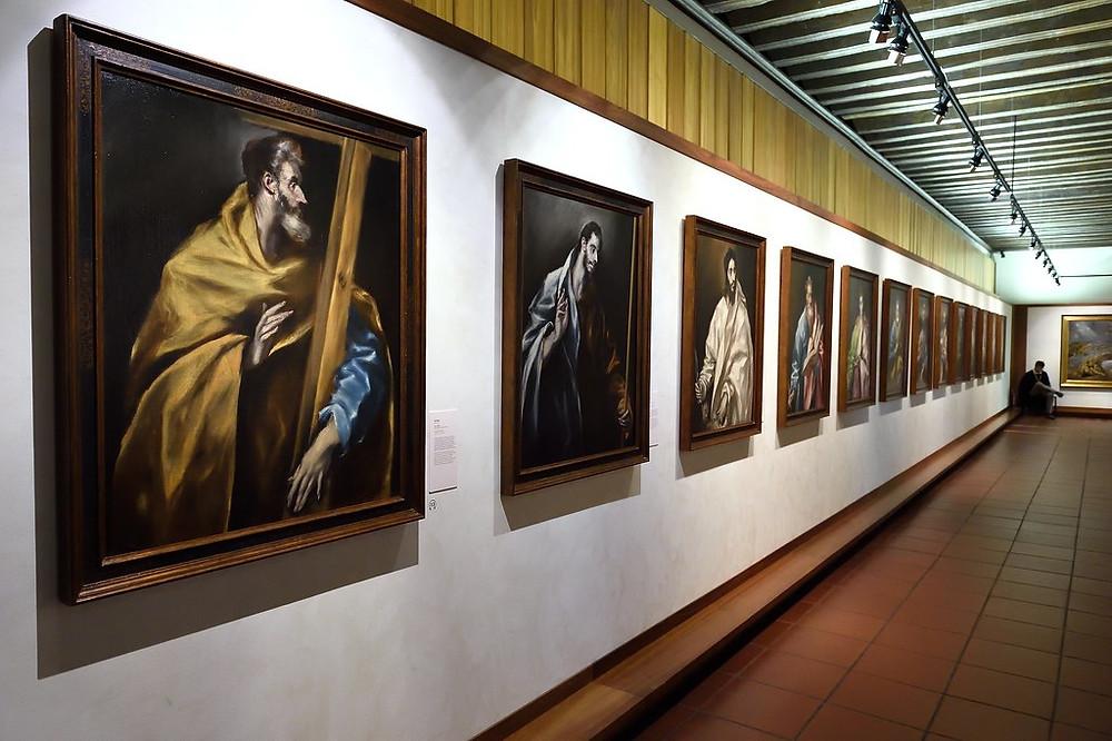 Apostolate paintings in El Greco Museum in Toledo, Spain