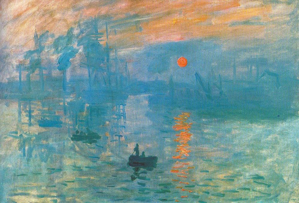 Monet, Impression: Sunrise, 1872 -- in the Musee Marmotttan Monet
