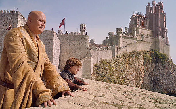 Tyrion and Varys strategizing in Kings Landing, the Dubrovnik city walls