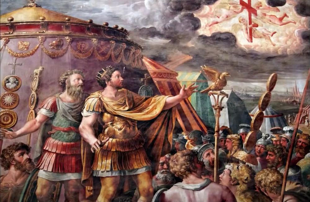 Giulio Romano (Raphael Workshop), Constantine's Vision of the Cross, 1520-24
