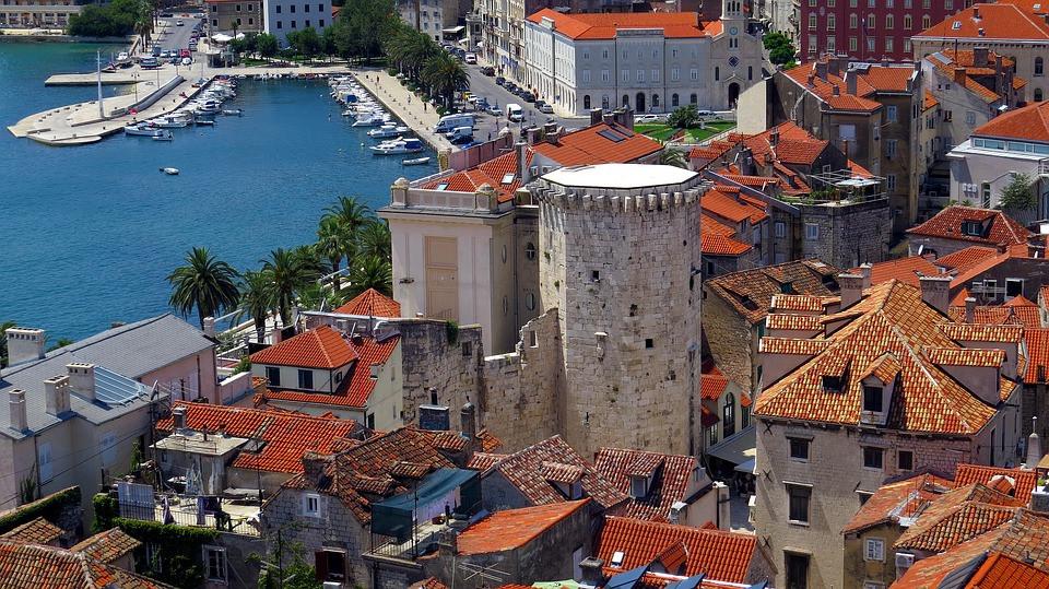 the beautiful Split Croatia on the Adriatic Sea