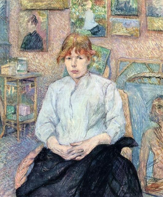 Toulouse-Lautrec, The Redhead in a Blouse, 1887