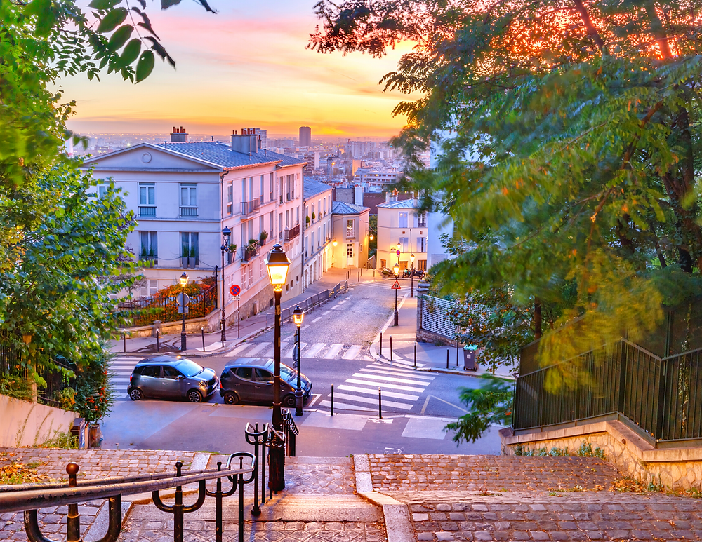 staircases in Montmartre