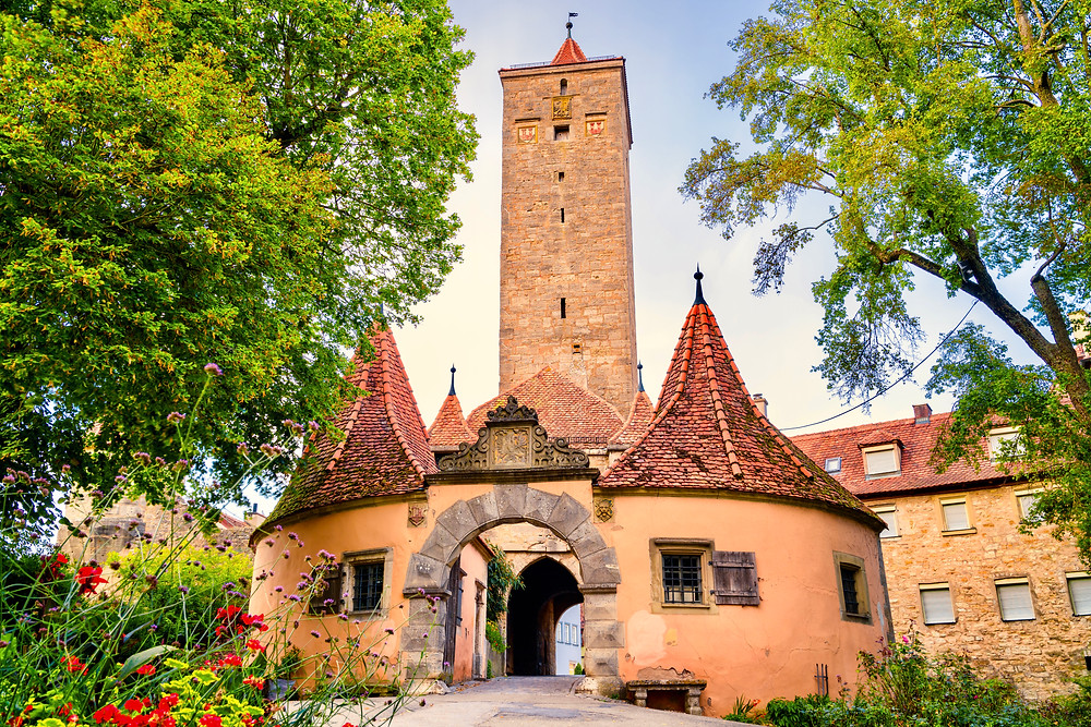 fortified city gate in Rothenberg ob der tauber