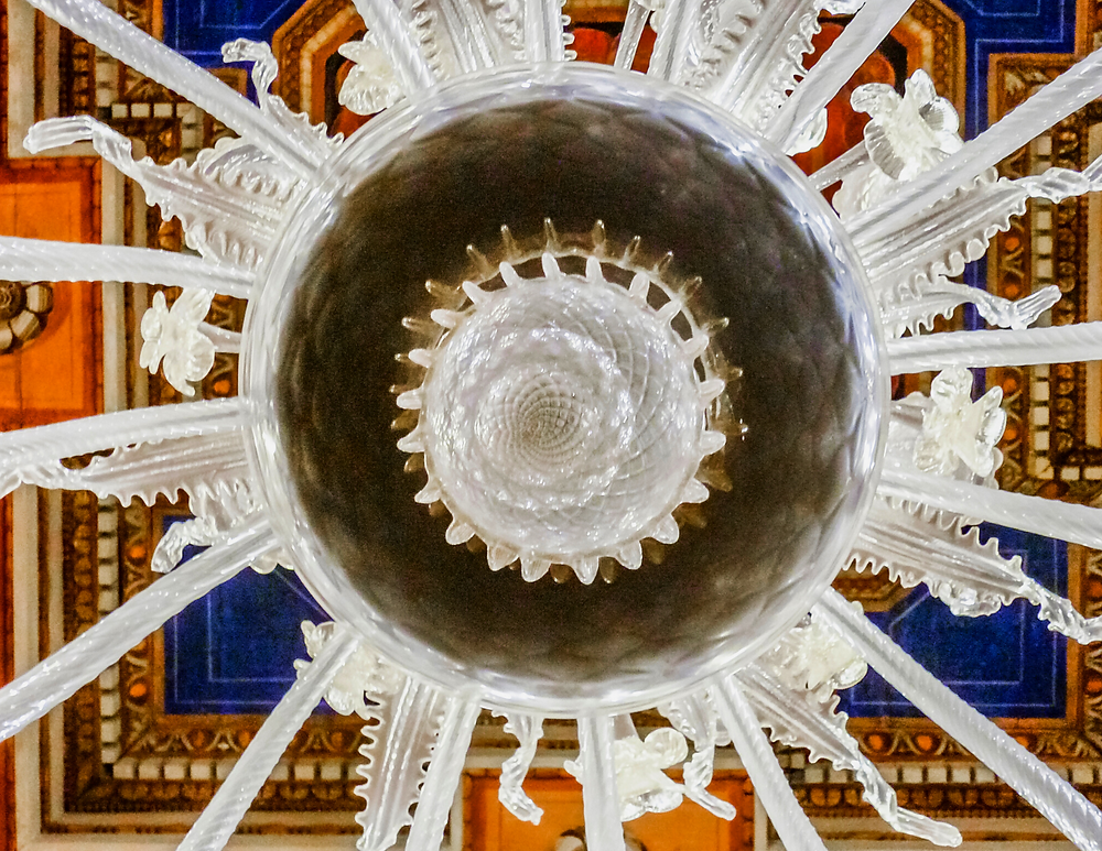 glass chandelier in the Capitoline Museums