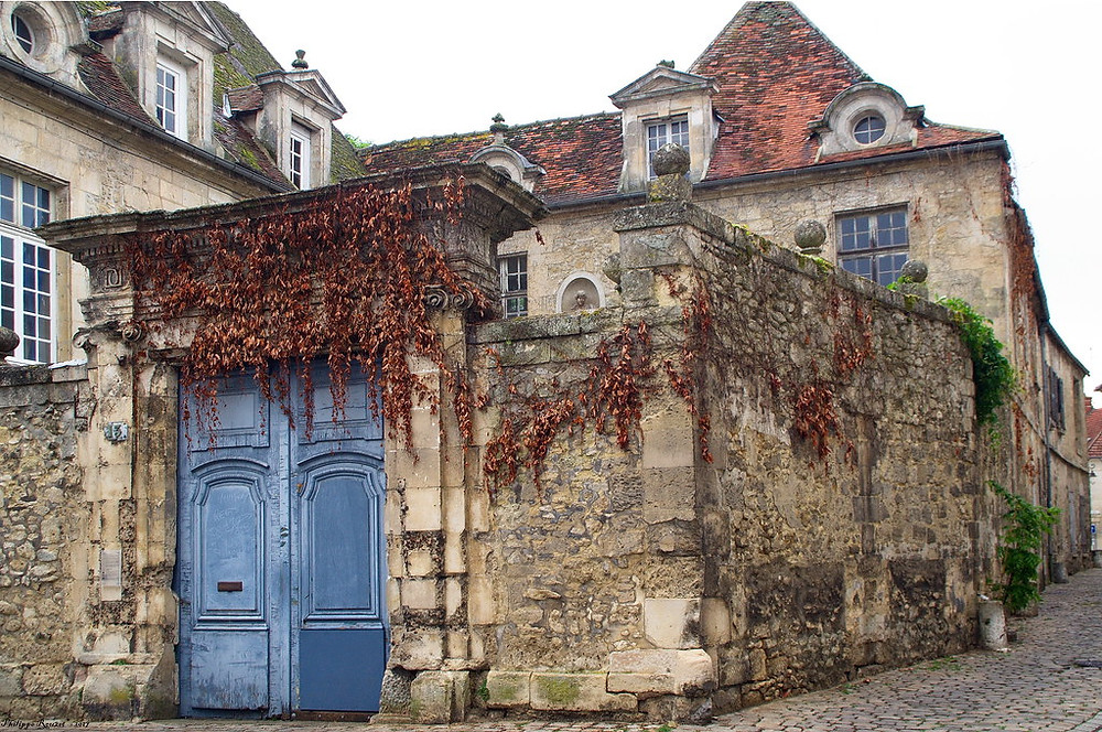 the medieval village of Crépy-en-Valois near Paris