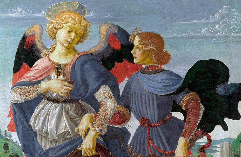 detail of Verrochio's Tobias and the Angel, 1480