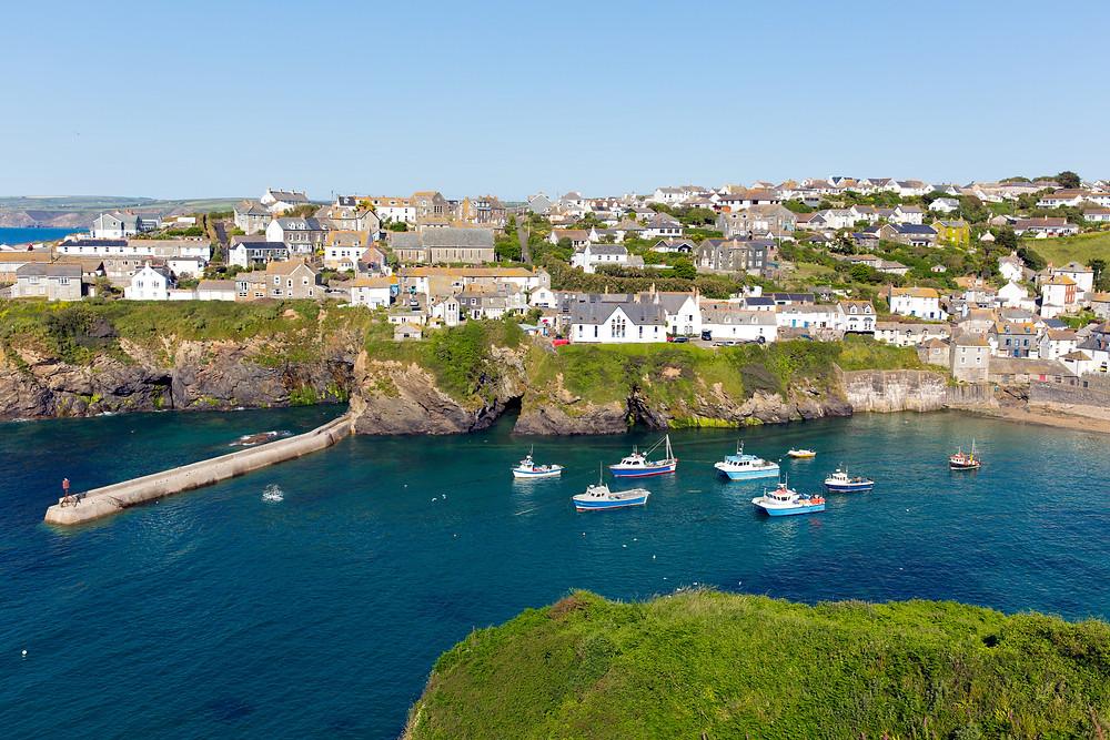 the sleepy town of Port Isaac in Cornwall England