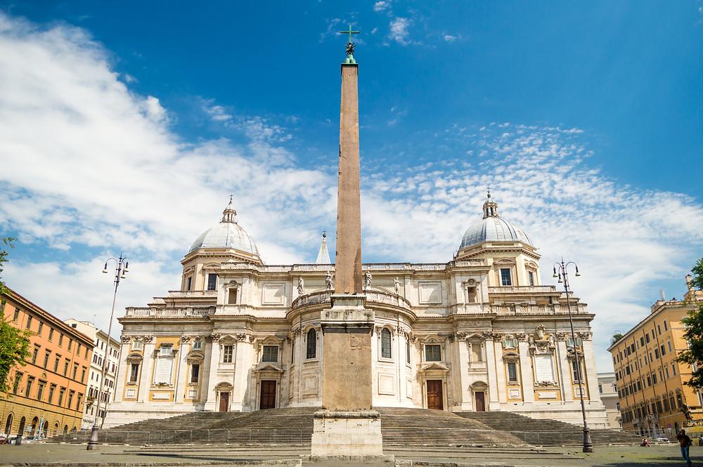 Piazza dell' Esquilino and the rear facade of the Basilica di Santa Maria Maggiore