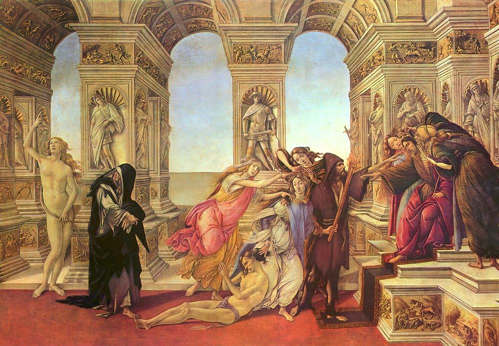 Botticelli, Calumny of Apelles, 1496