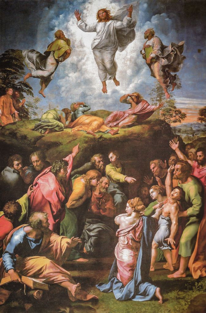 Raphael's Transfiguration in the Vatican Pinacoteca