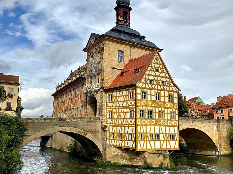 the exceedingly picturesque Old Town Hall of Bamberg