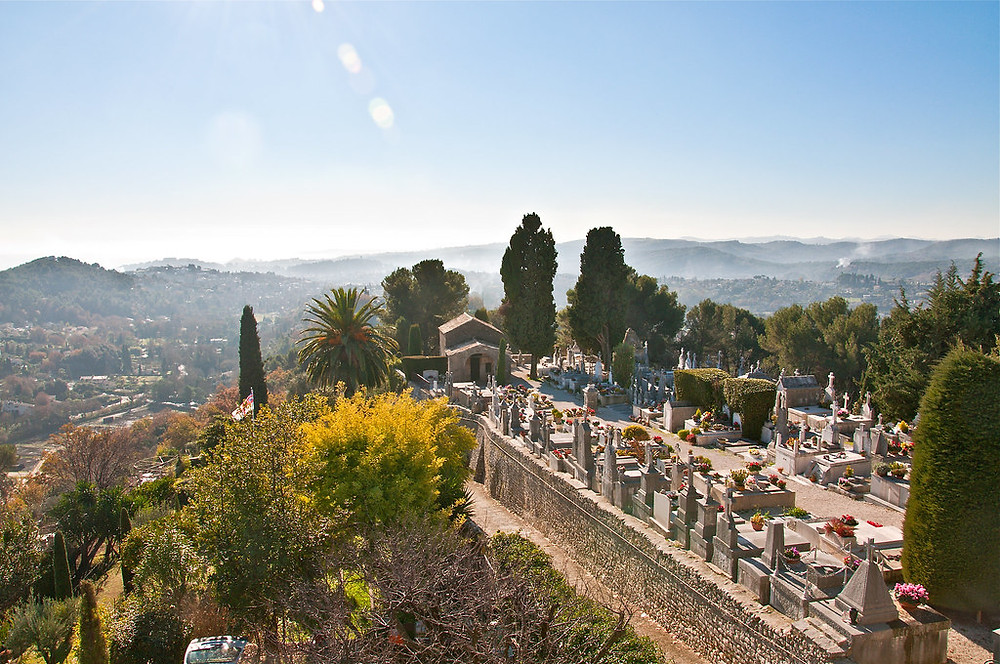 the cemetery of Saint Paul de Vence