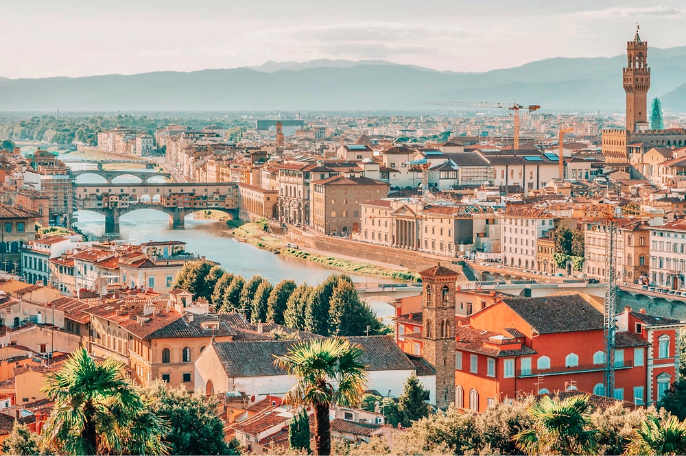 cityscape of Florence Italy, a must visit destination for art in Tuscany