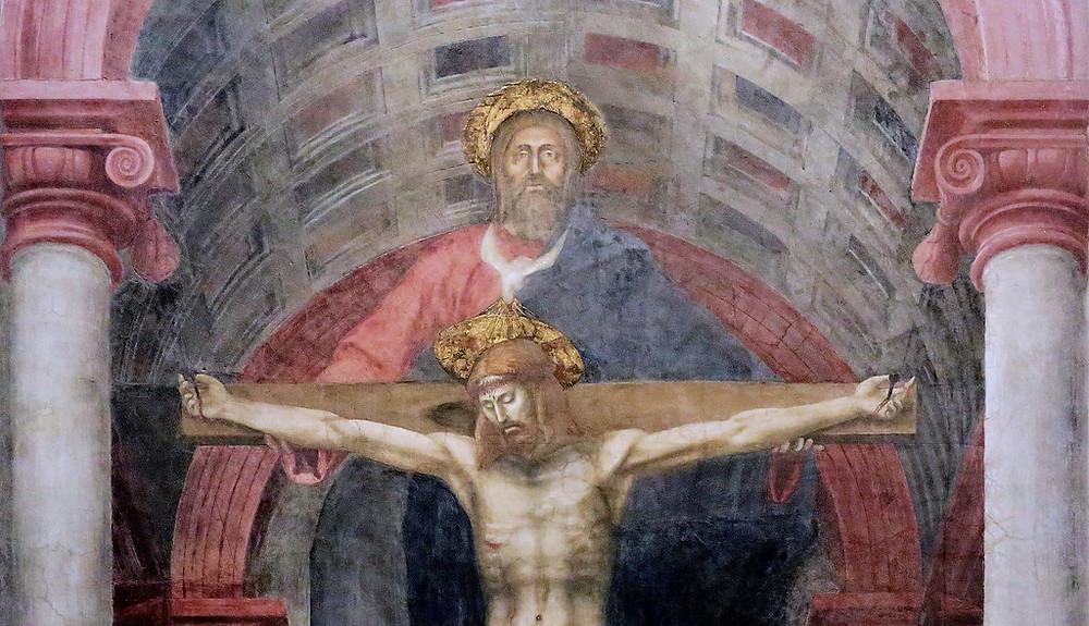 detail of Masaccio's The Holly Trinity