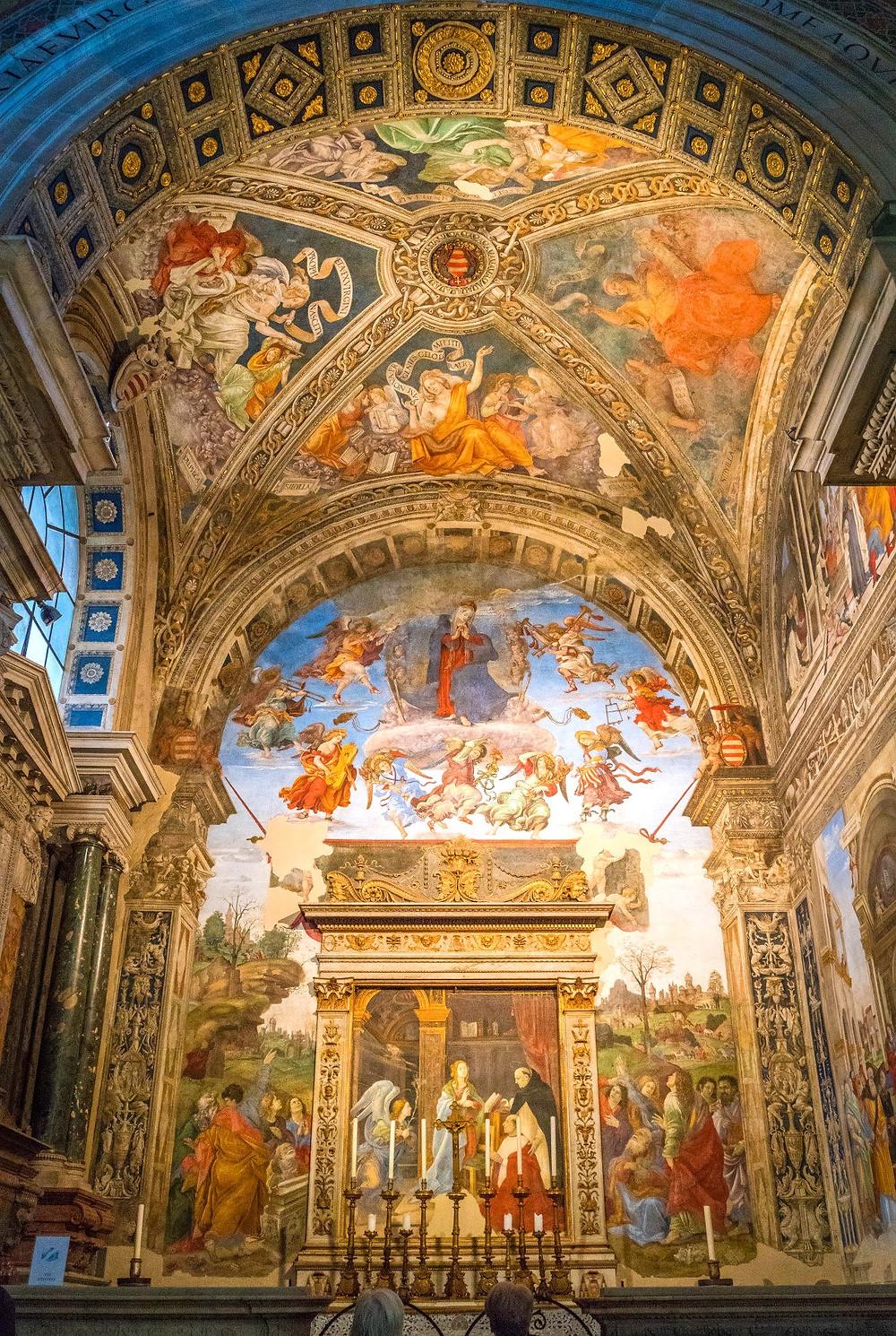 Lippi frescos in the Carafa Chapel
