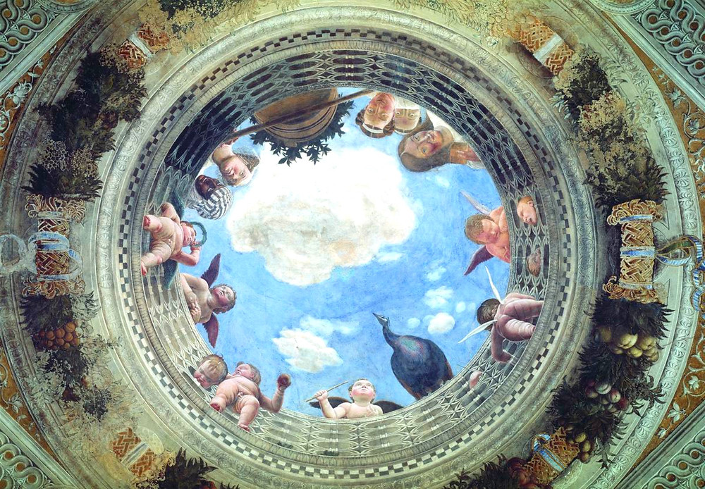 oculus of the Camera degli Sposi in the Ducal Palace