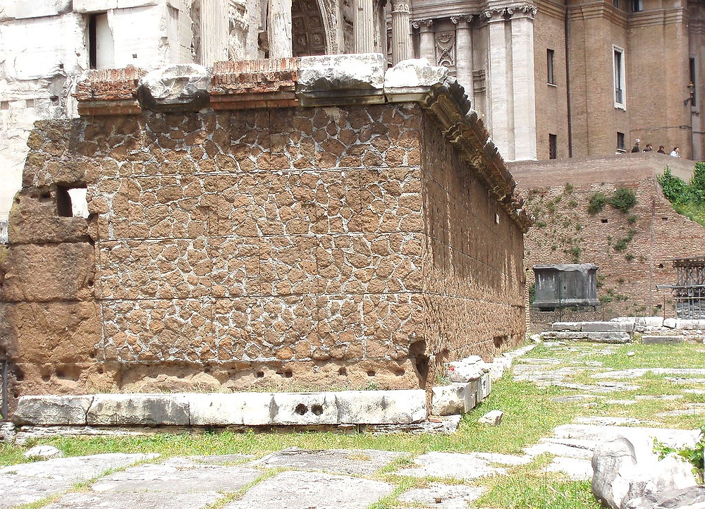 remains of the Rostrum, or speaking platform