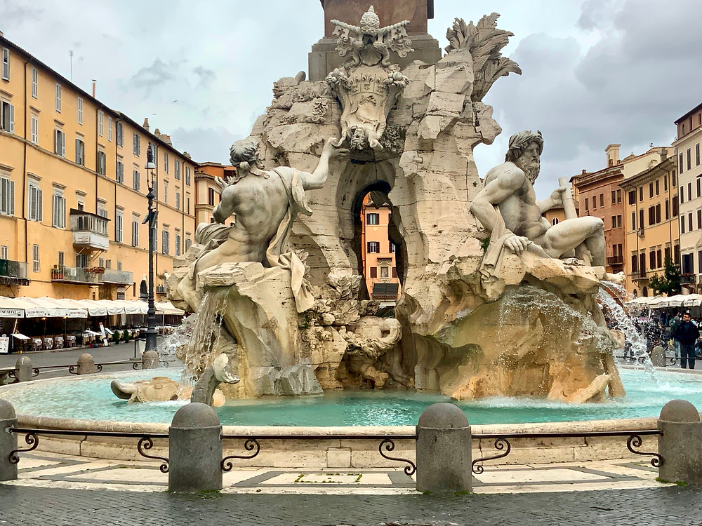 The Fountain of Four Rivers in Piazza Navona