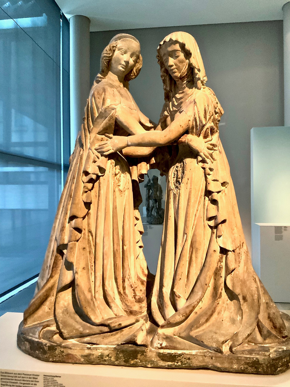 Mary and Elizabeth and the unborn babies in their abdominal cavities
