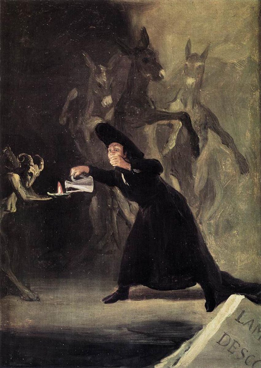 One of Goya's Black Paintings, The Bewitched Man, 1819-23