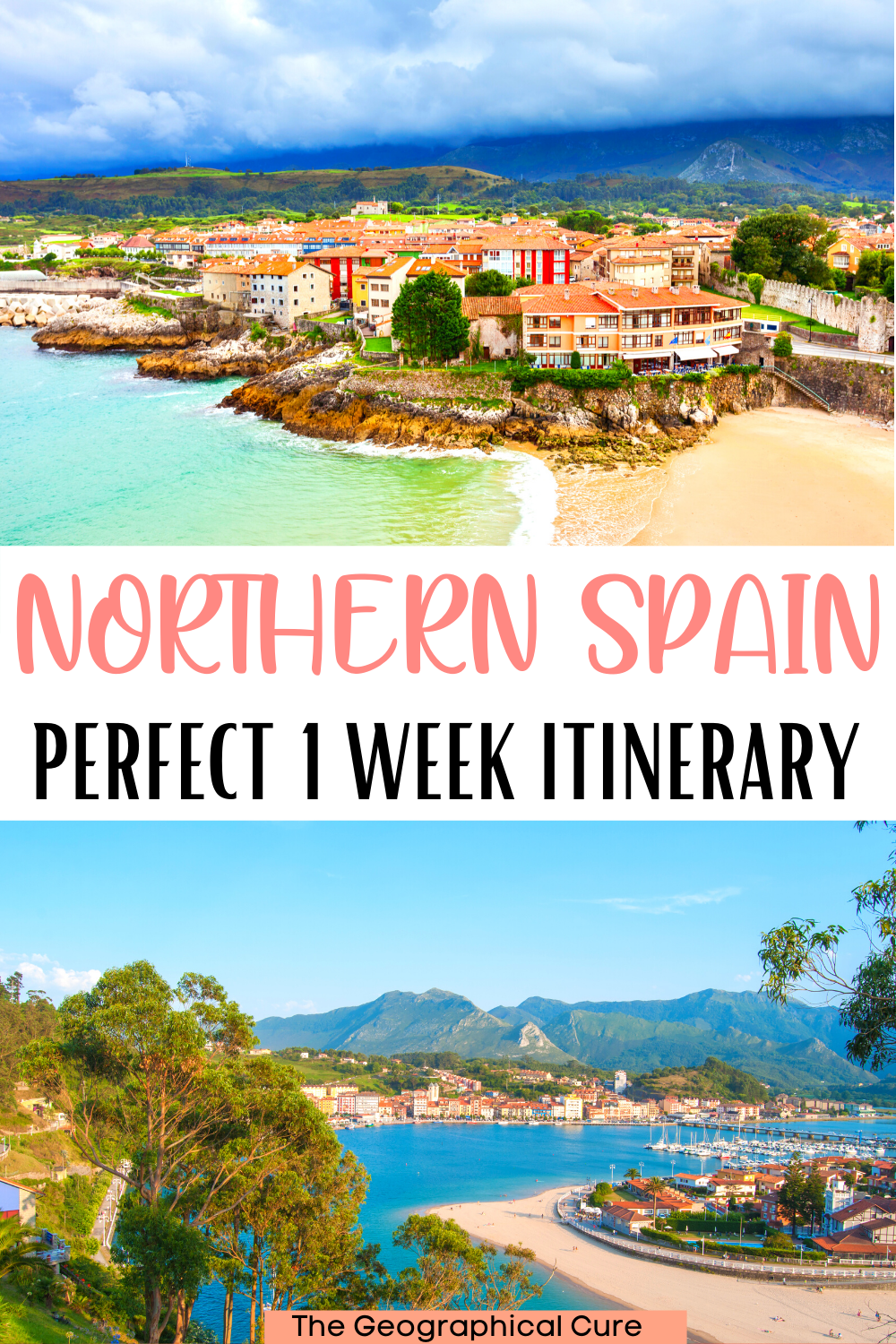 ultimate one week itinerary for visiting northern Spain, with all the must see sites and landmarks