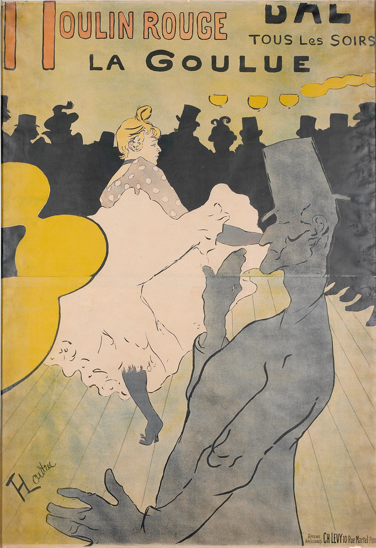 Toulouse-Lautrec, La Goulue, 1891 -- one of his most famous posters