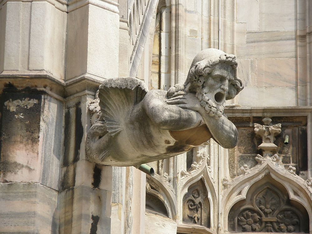 gargoyle on the Duomo in Milan