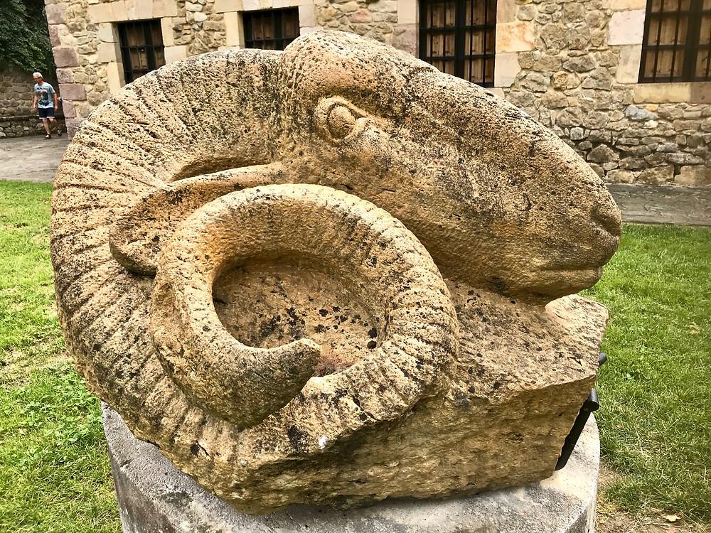 stone statue outside the Colegiata