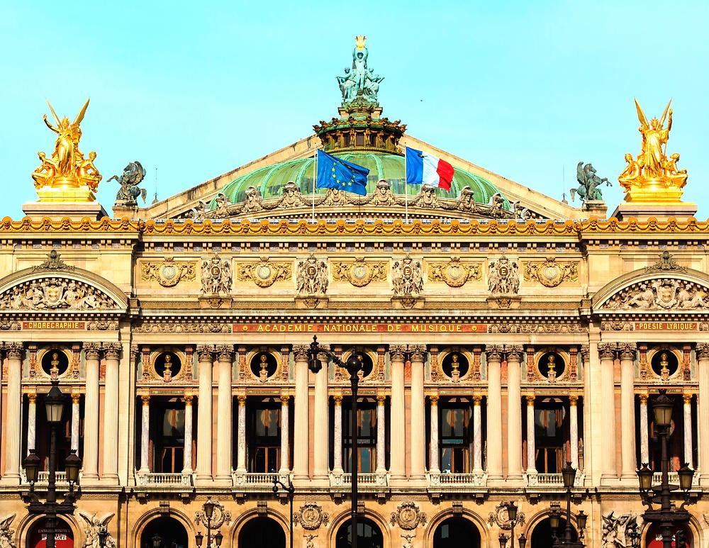 facade of the Paris Opera House