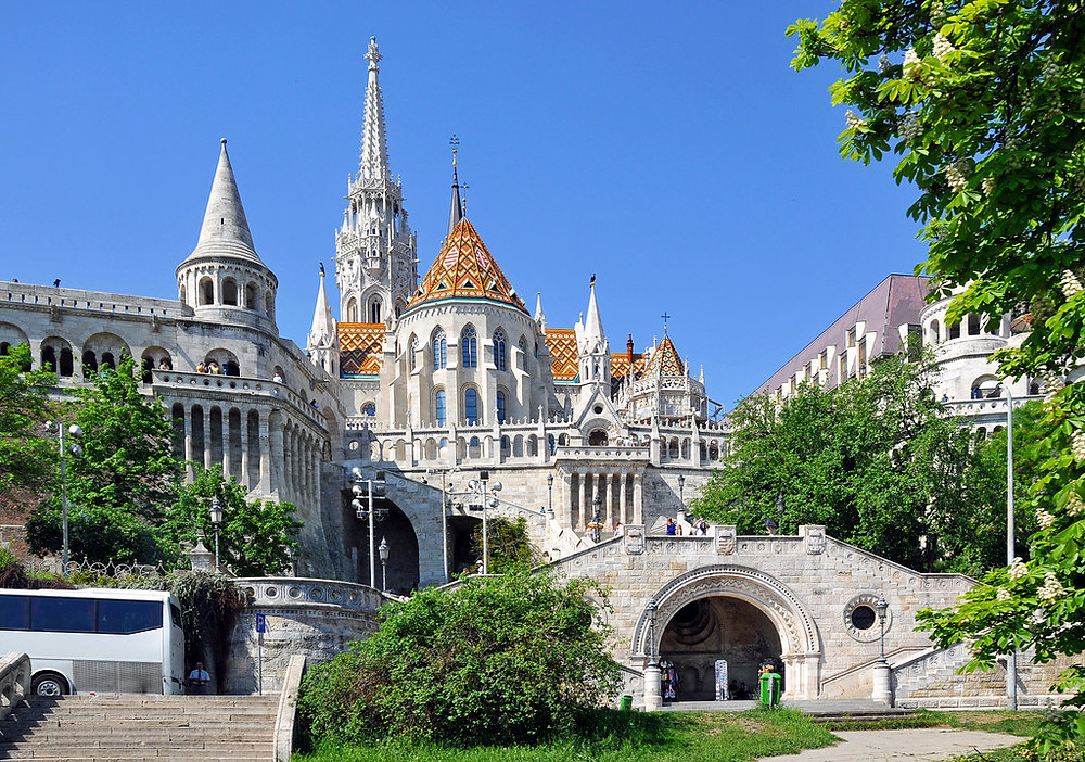 Fisherman's Bastion viewing point in Buda