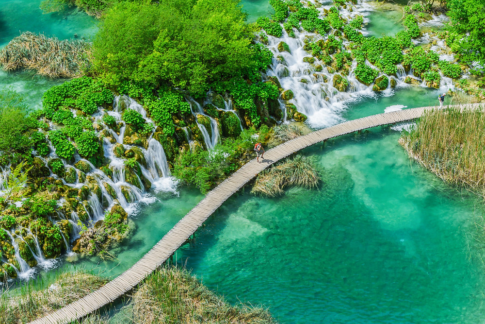 lower lakes of Plitvice Lakes National Park