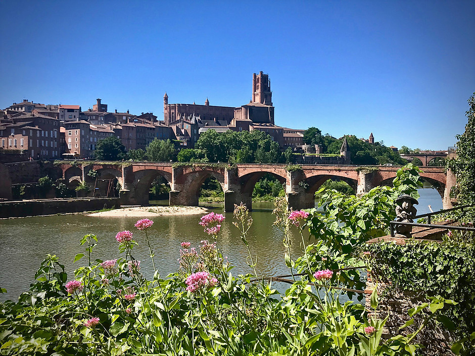 The episcopal city of Albi on the Tarn River in France
