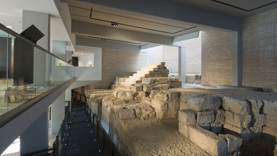 ruins of a Roman Theater in Cordoba's Archeological Museum