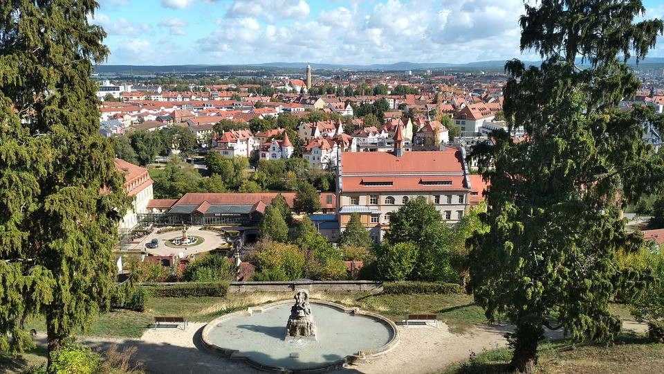 view of Bamberg from Michelsberg Abbey